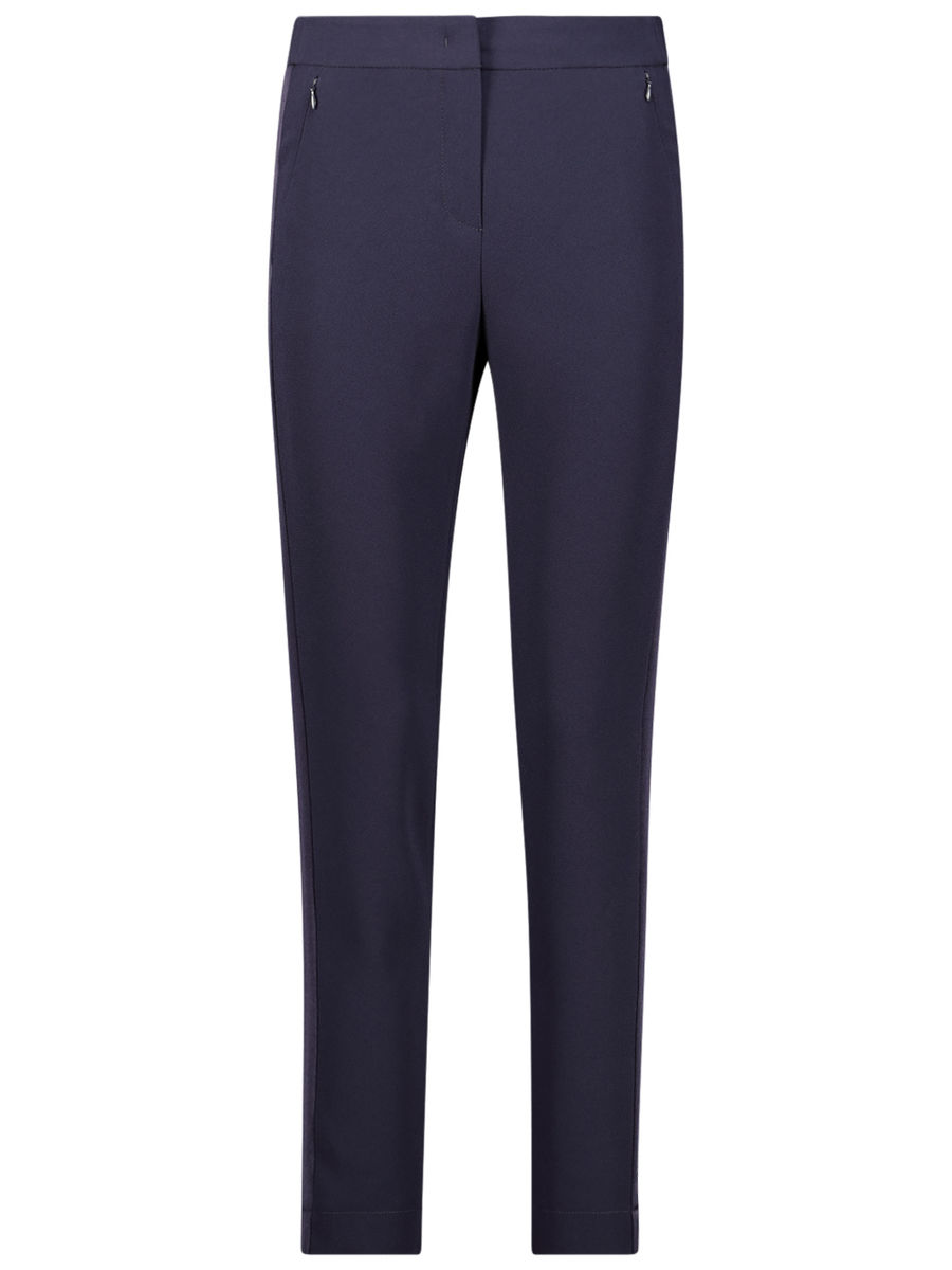 Straight navy trousers