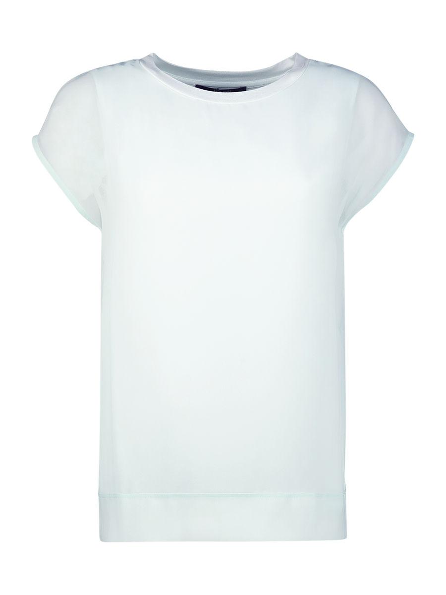 Simple cap sleeve blouse