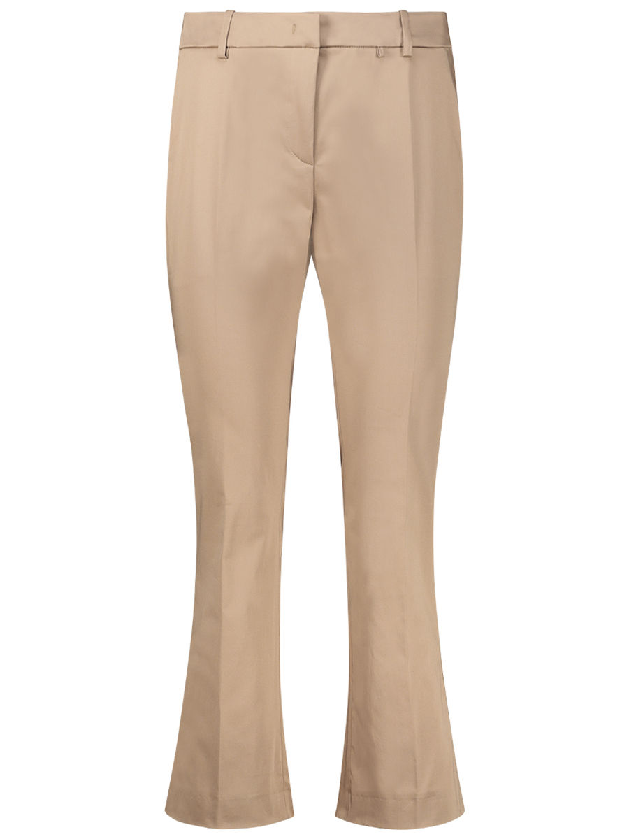 Slim-fit and flare trousers