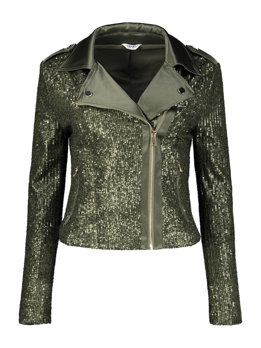 Sequin biker jacket