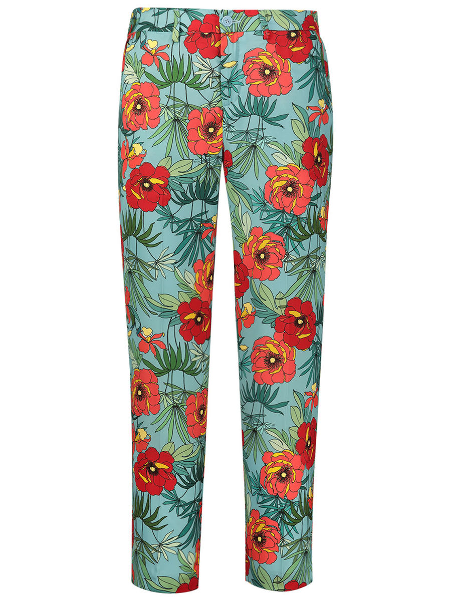 Floral flare casual pants