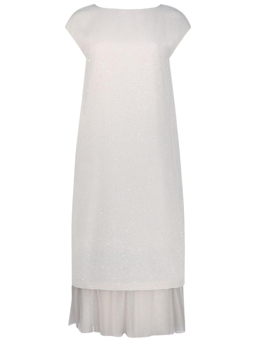 Schimmerndes Midi-Kleid