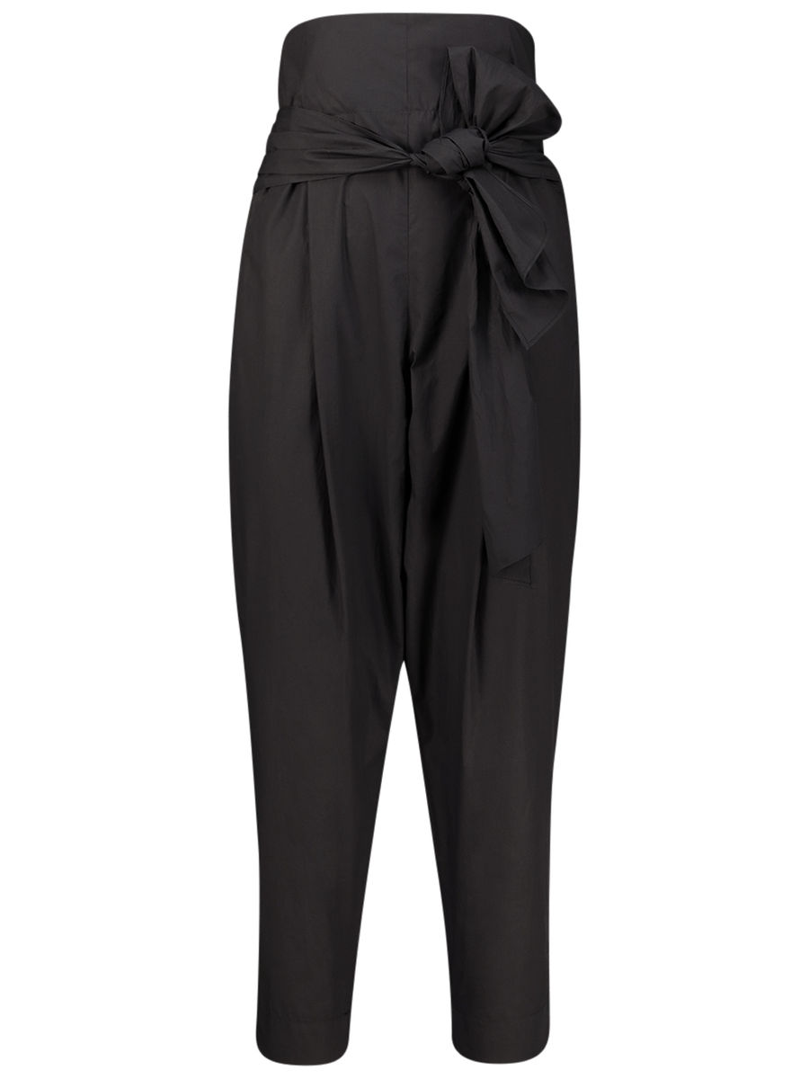 Dramatic pegged trousers