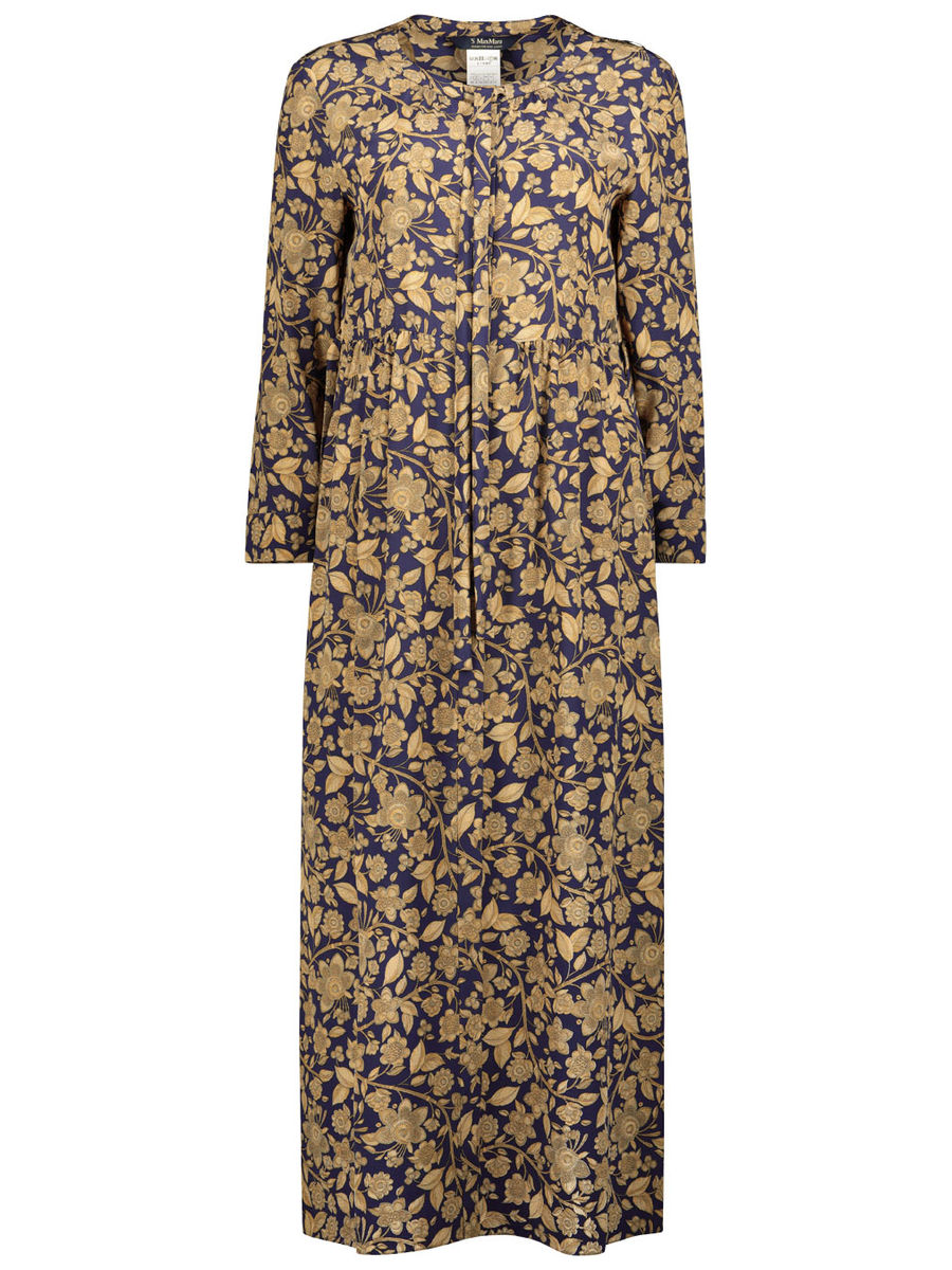 Royal pattern shirt dress