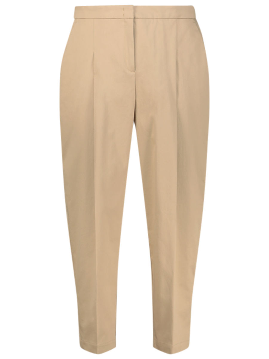 Subtle beige puffed-up pants