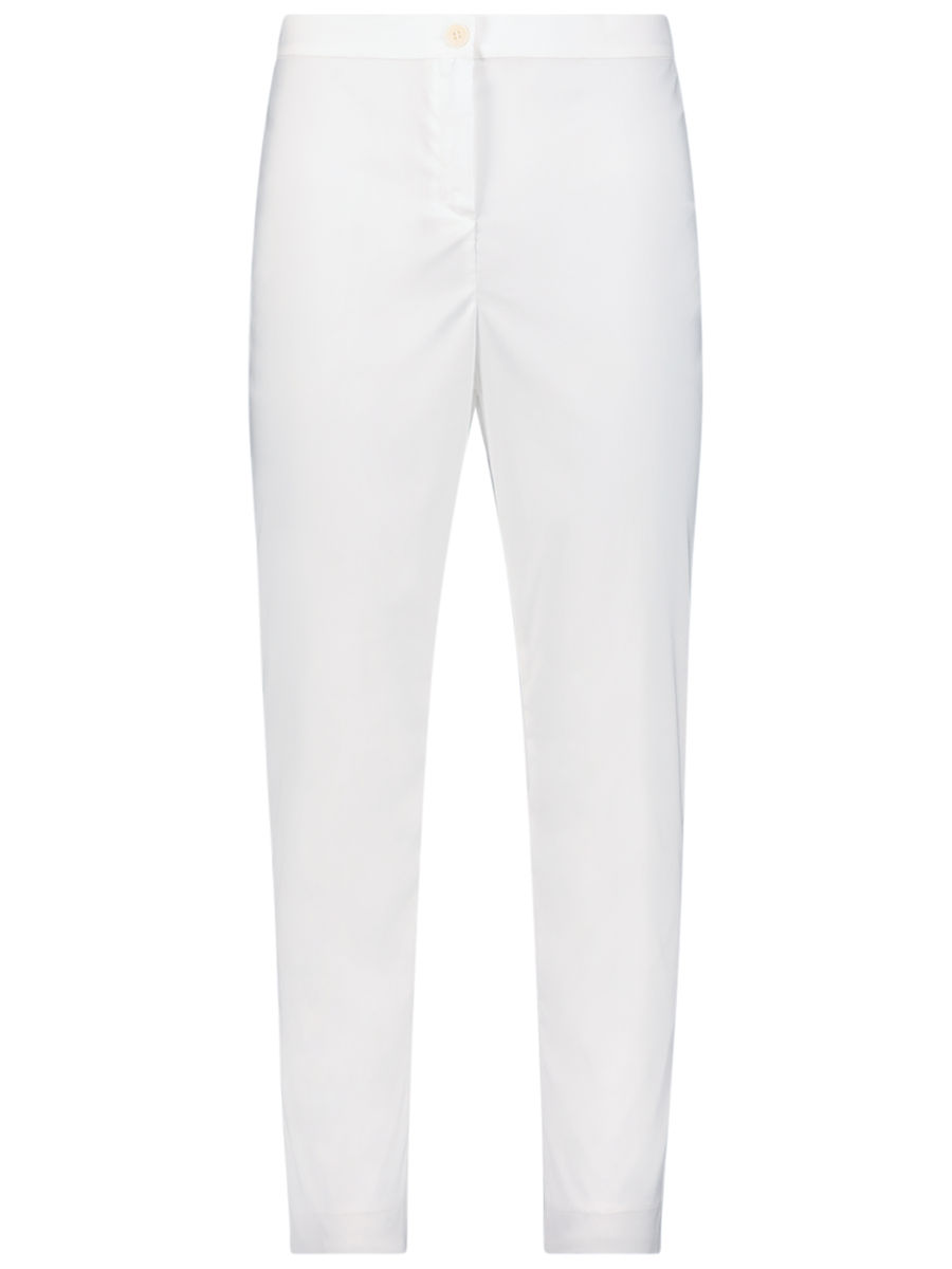 Bright white slim-fit pants