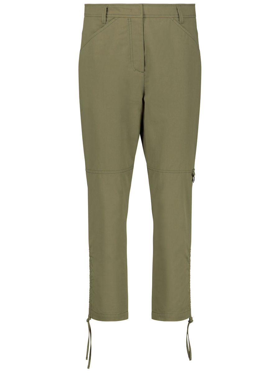 Boot-cut cargo trousers