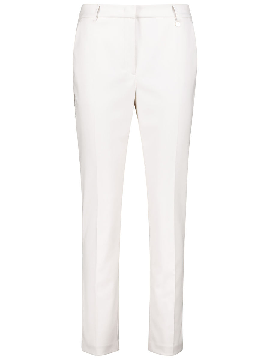 Soft embellished straight-cut trousers