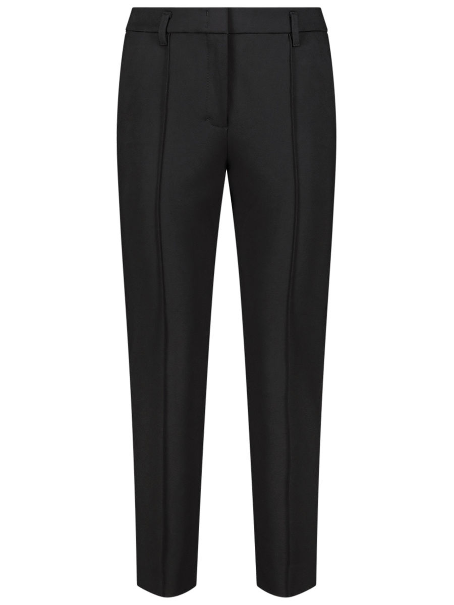Solid pintuck trousers