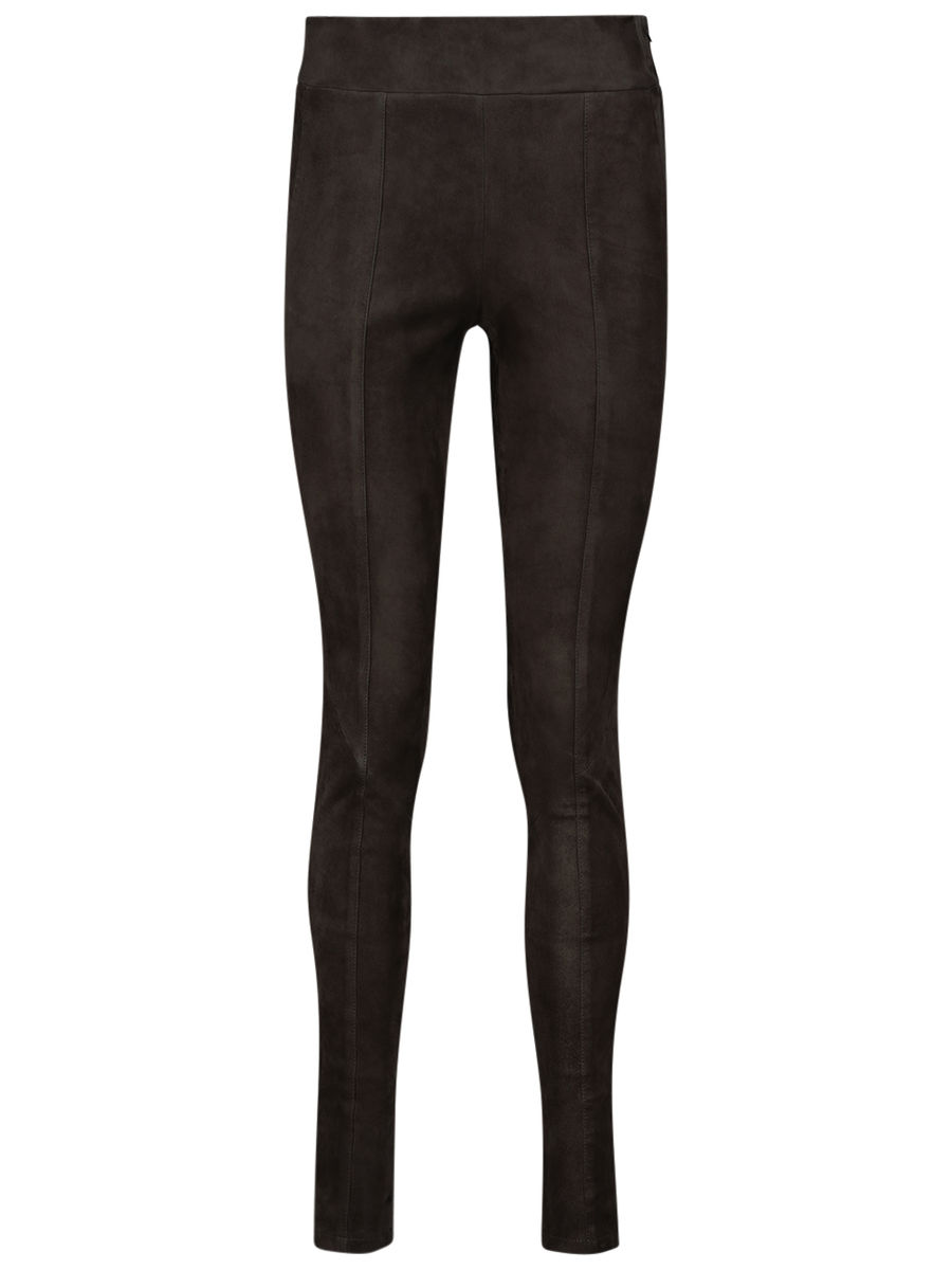 Supple lamb-leather jeggings