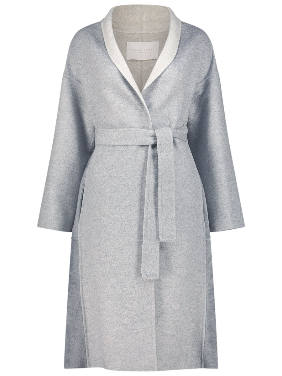Structured wrap coat