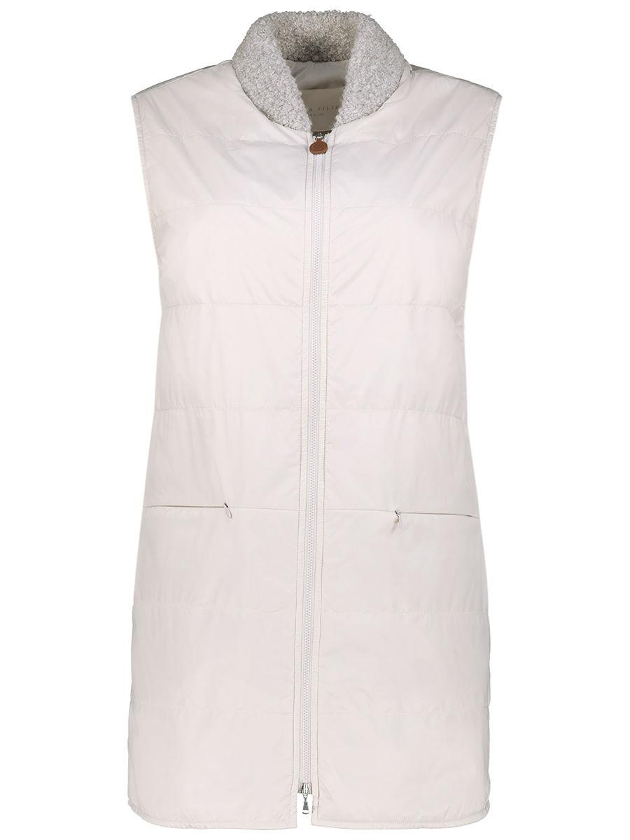 Ivory snug longline jacket