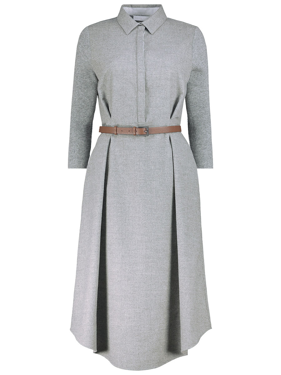 Sharp midi shirt dress