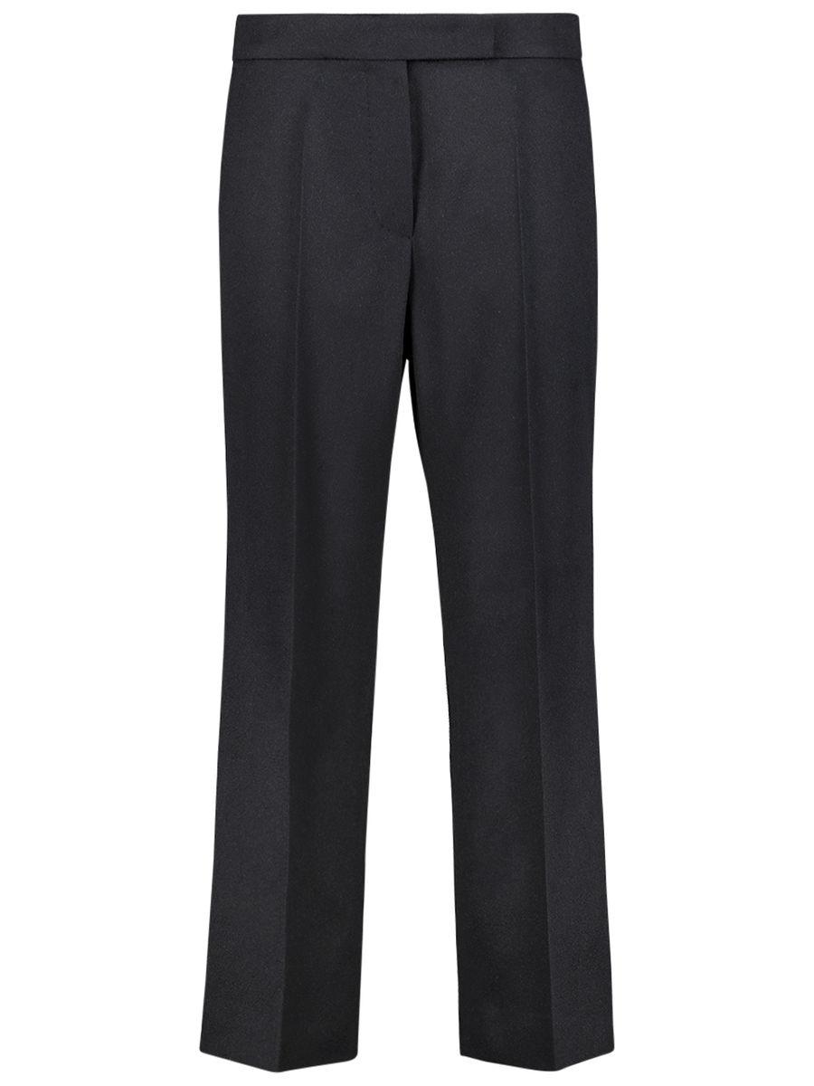 Mid waist straight cut trousers