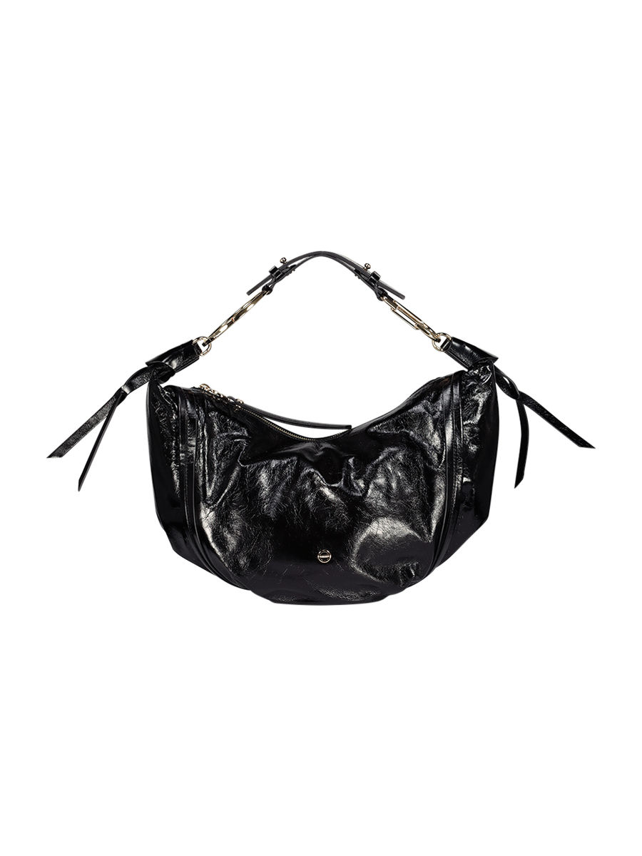 Raven textured shoulder bag