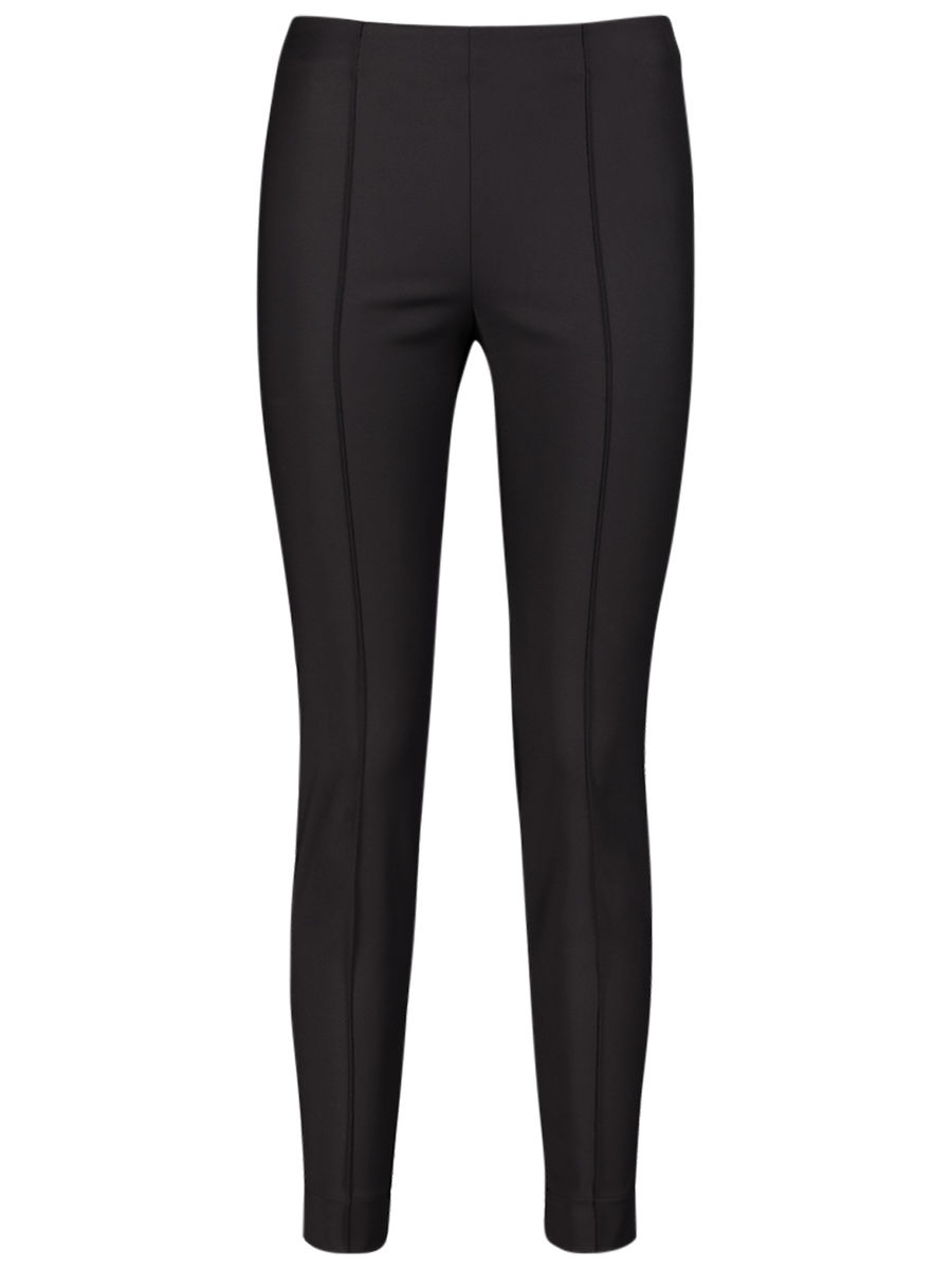 Basic black slim-fit trousers