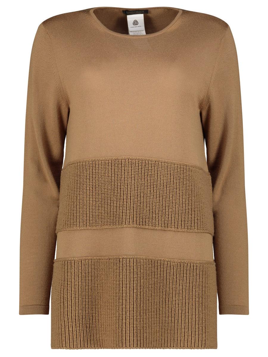 Walnut brown woolen jumper