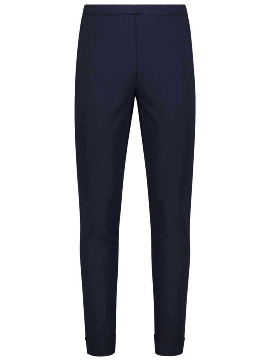 Stitched solid jersey leggings