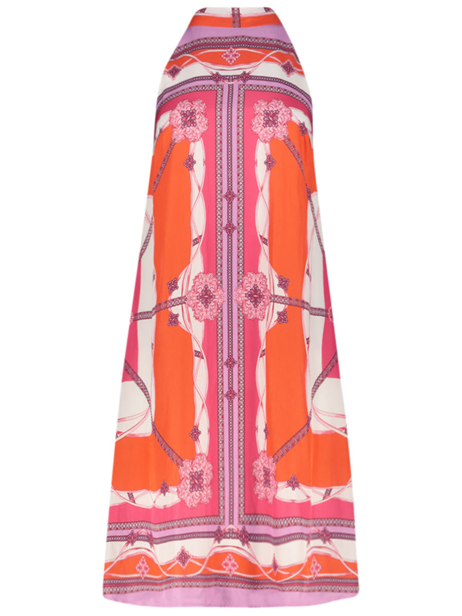 Summer print halter dress
