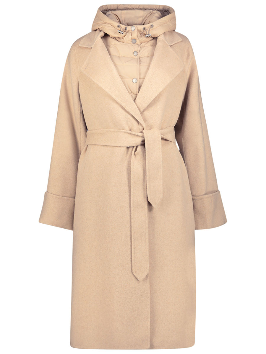 Beige tone layered coat