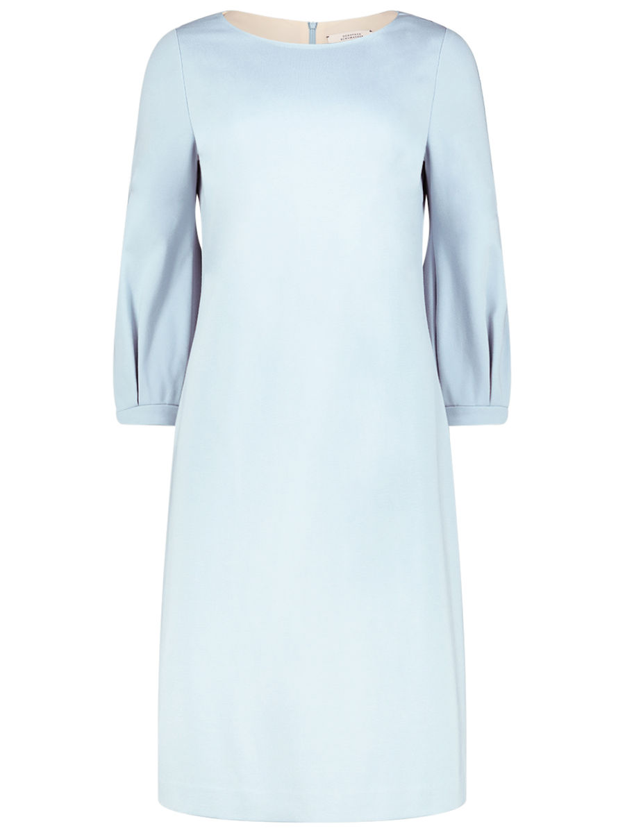Kleid mit Laternenärmeln in Babyblau