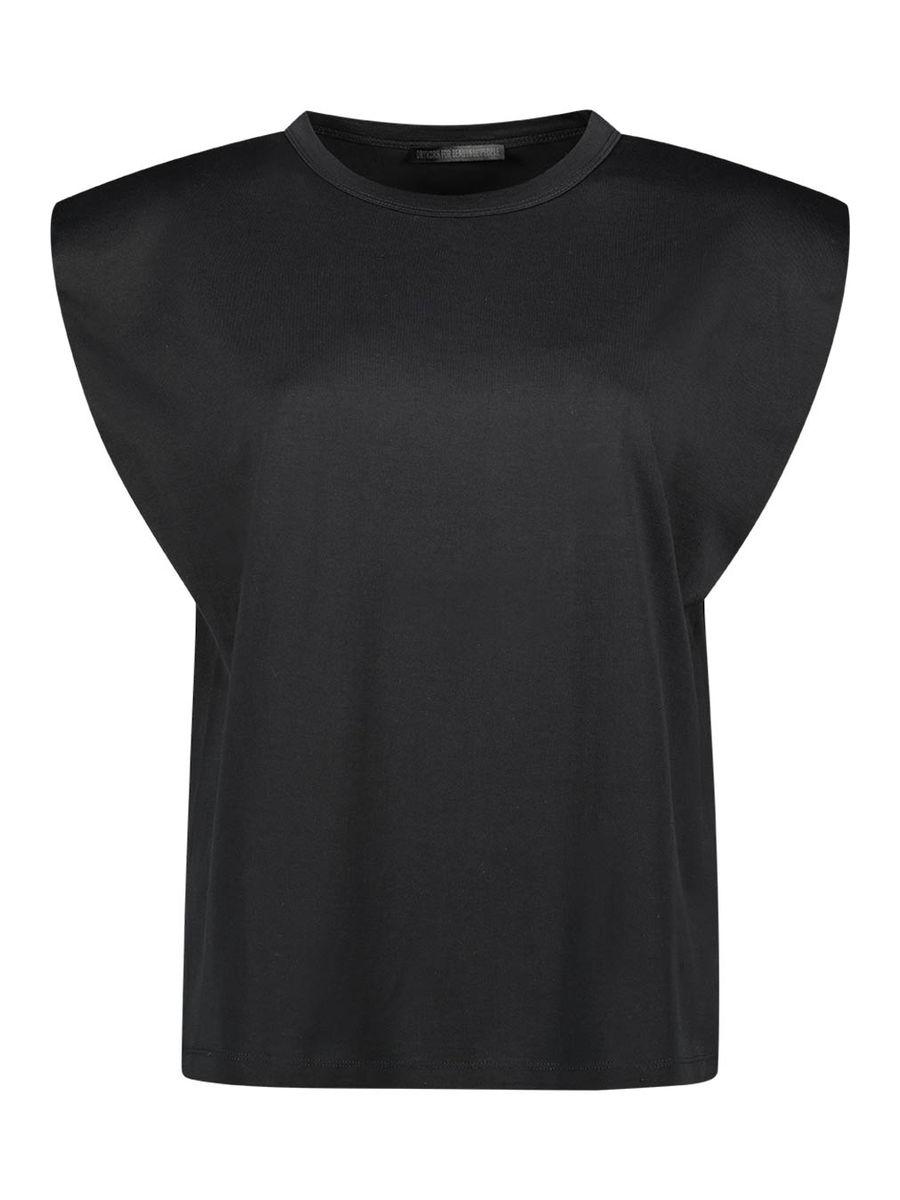 Jersey-Bluse mit gepolsterten Schultern