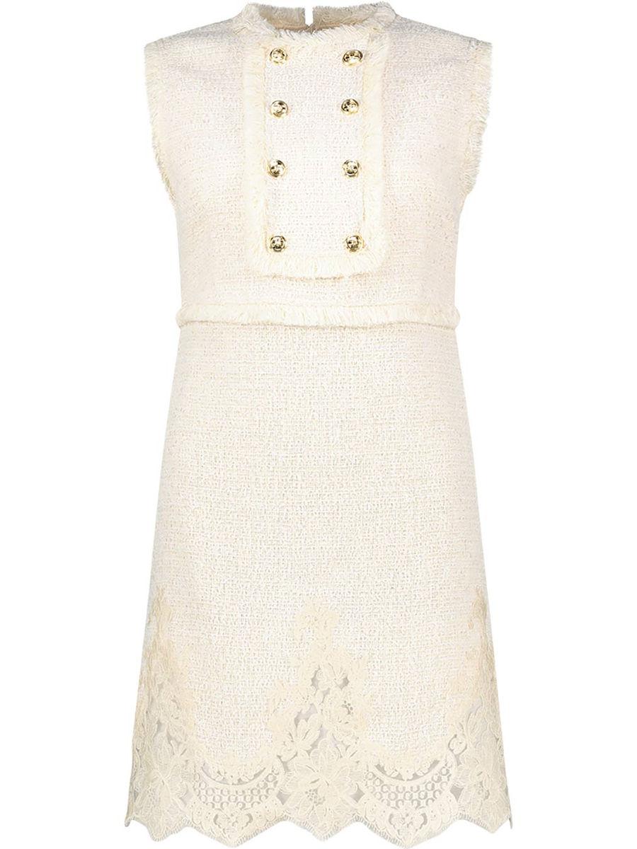 Lace detail vintage-inspired dress