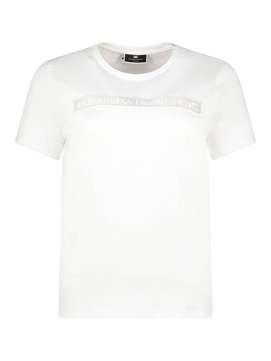 Minimal detailing ivory white t-shirt