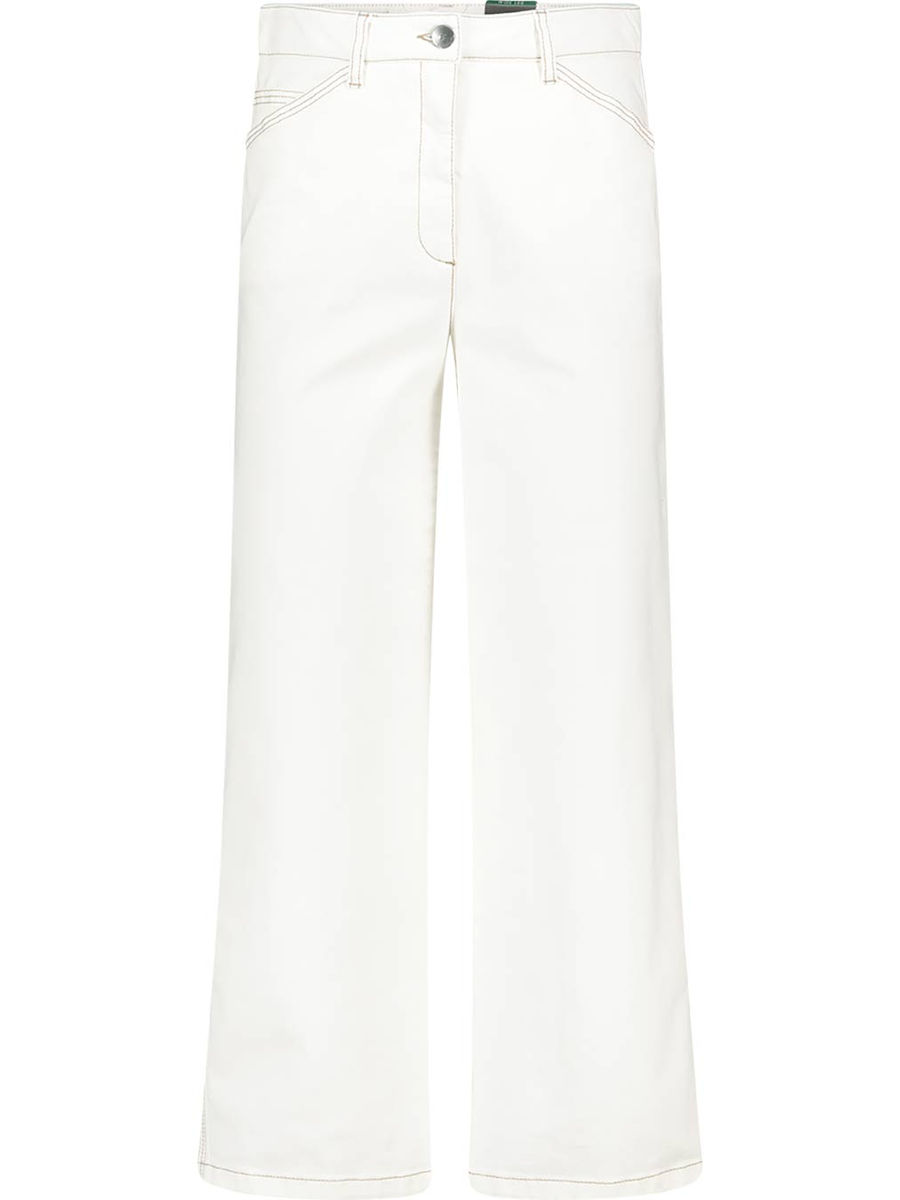 Thread detailed flared jeans