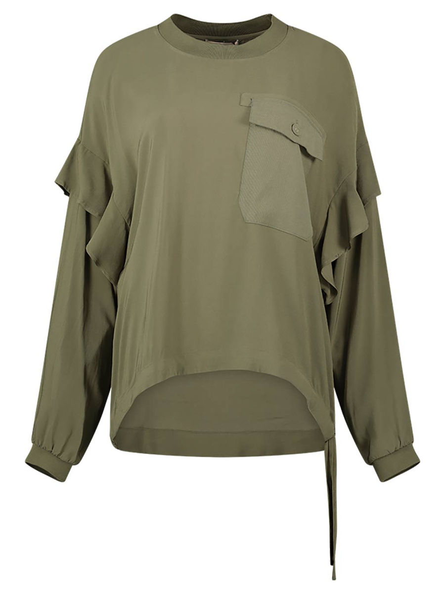 Pocket detail blouse