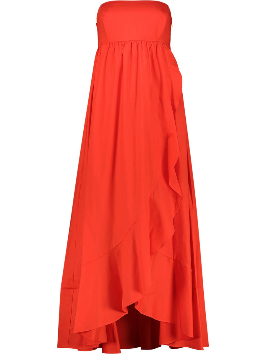 Maxi-Kleid mit Rüschensaum