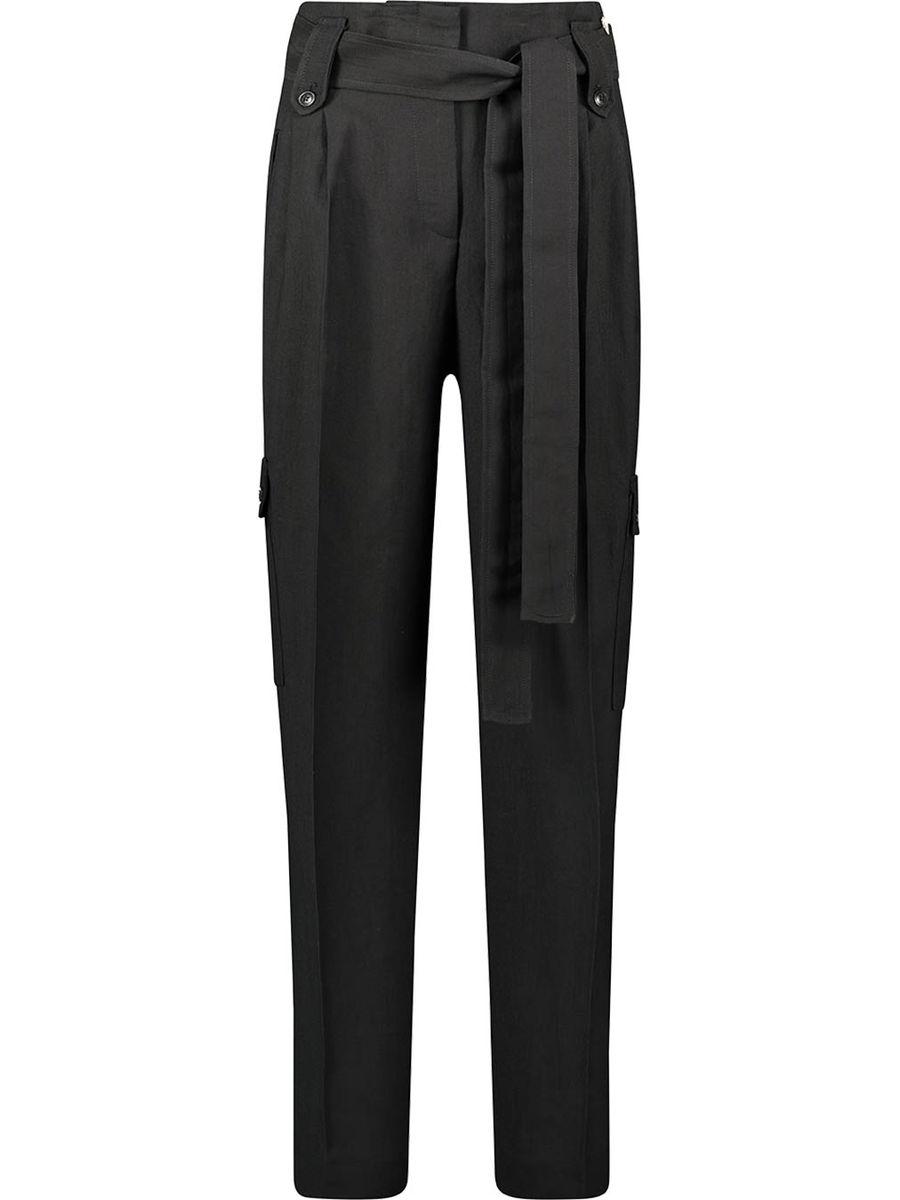 High-waist ebony trousers