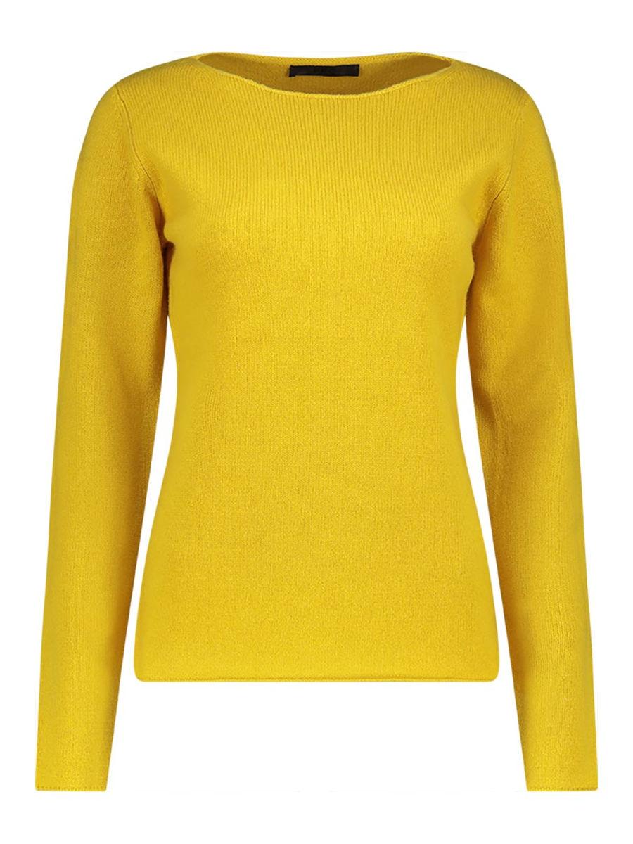 Chic boat-neck cashmere-blend jumper