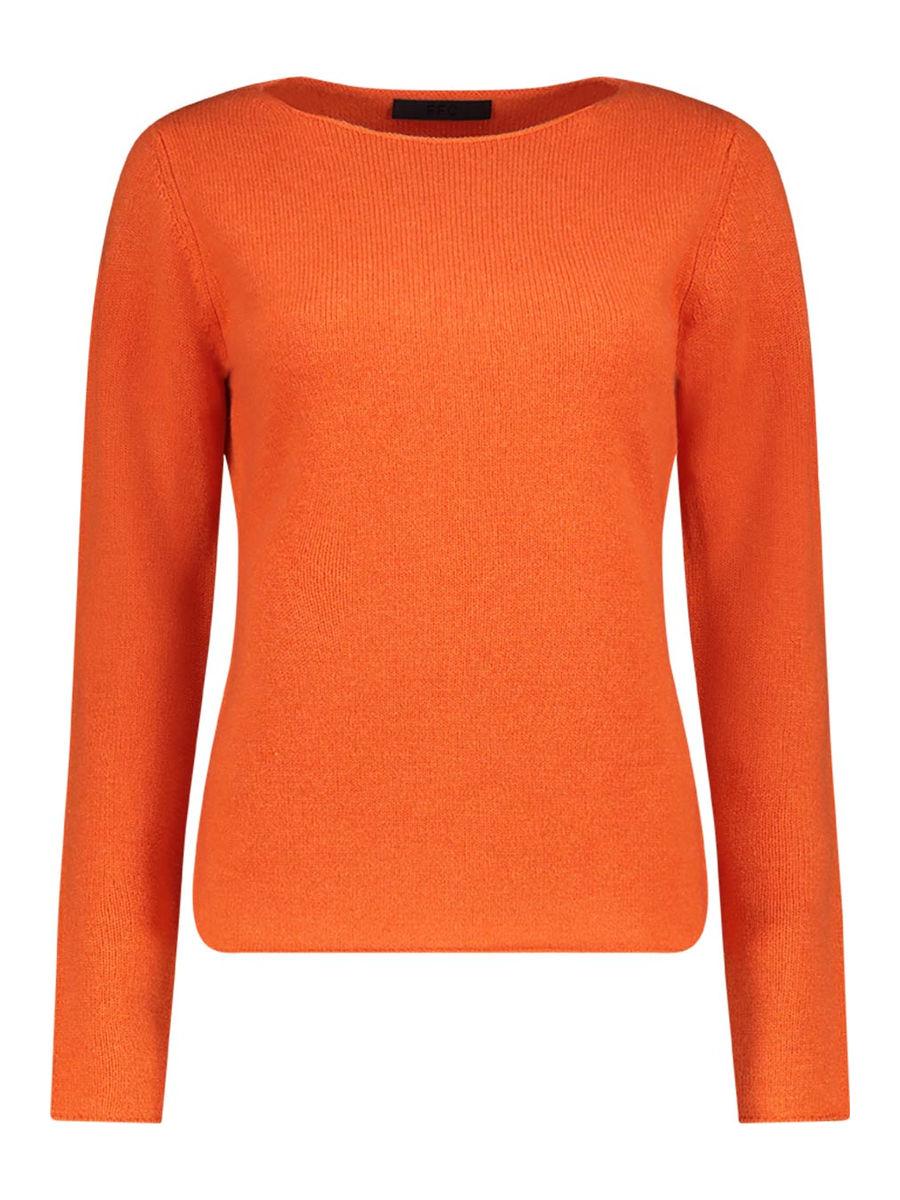 Poised boat-neck cashmere-blend jumper