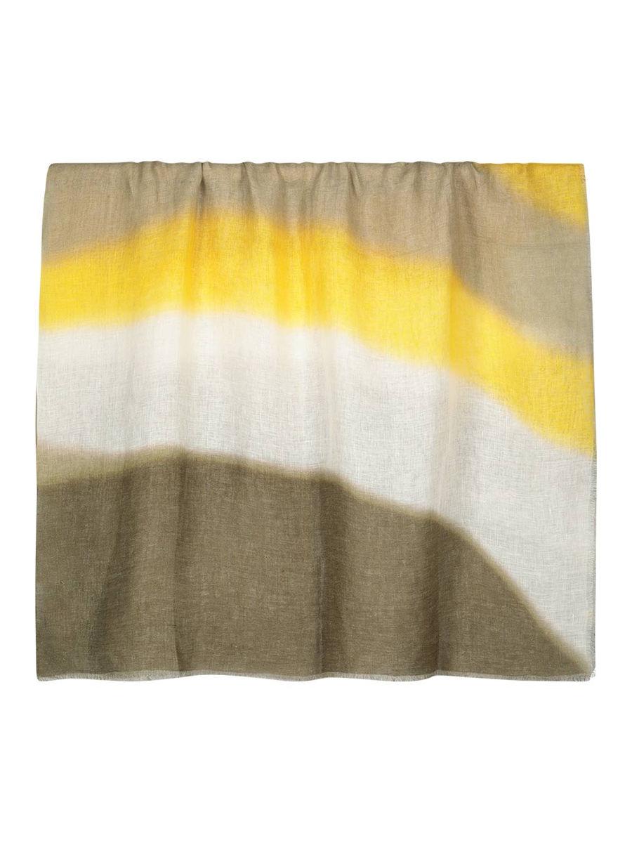 Pure linen gradient scarf