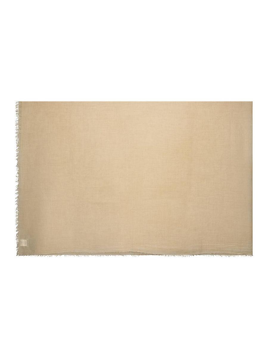 Voluminious frayed-hem scarf