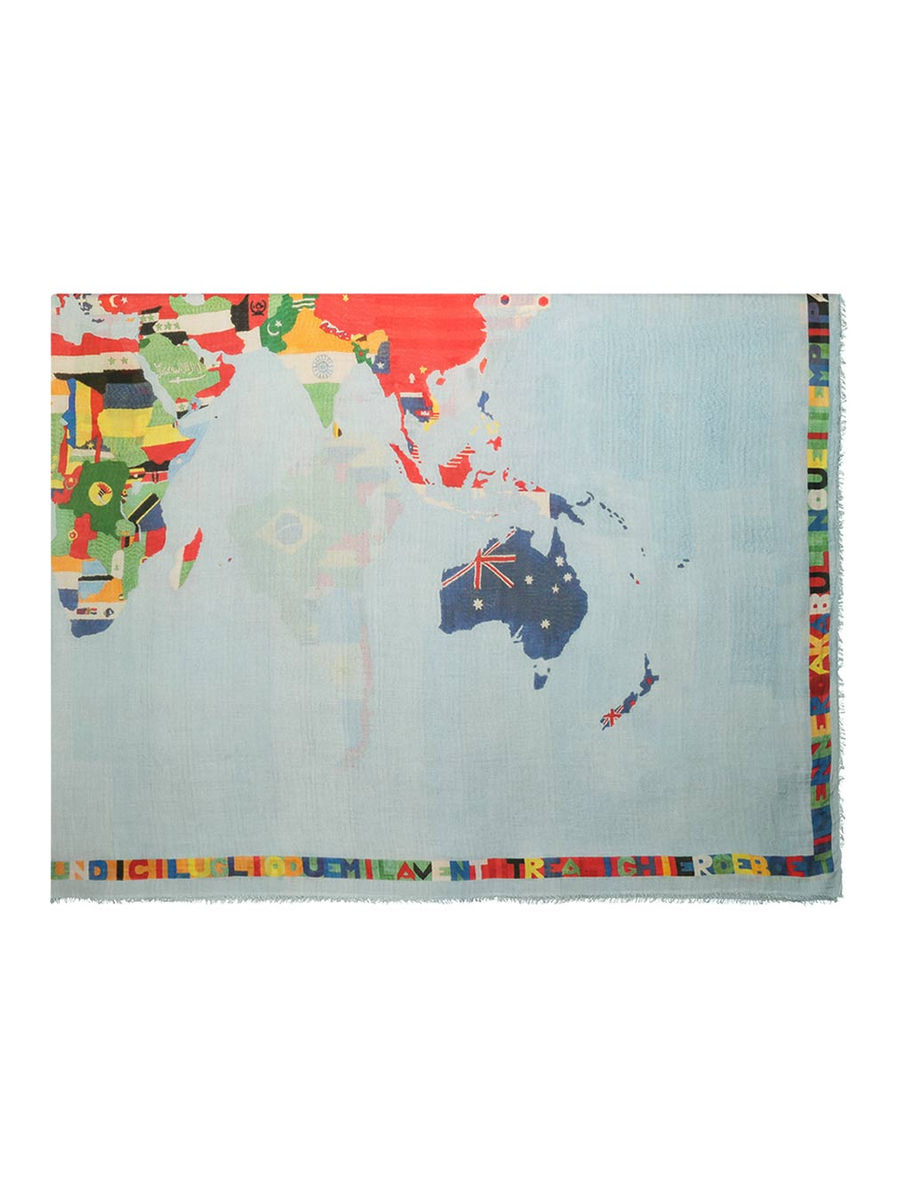 Winsome world map scarf