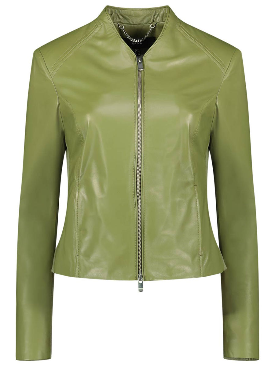 Slick elegance leather jacket