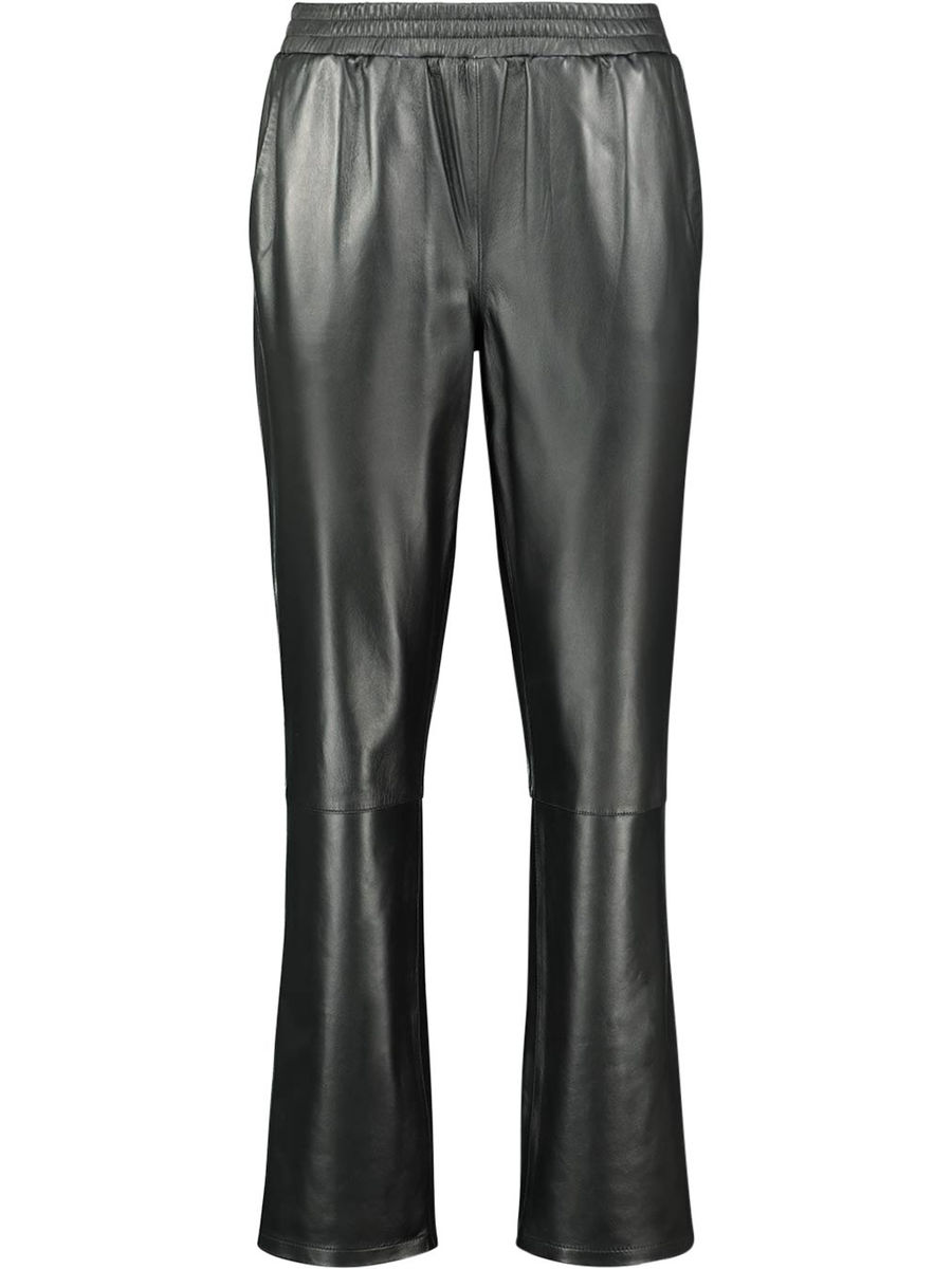 Elasticated leather trousers