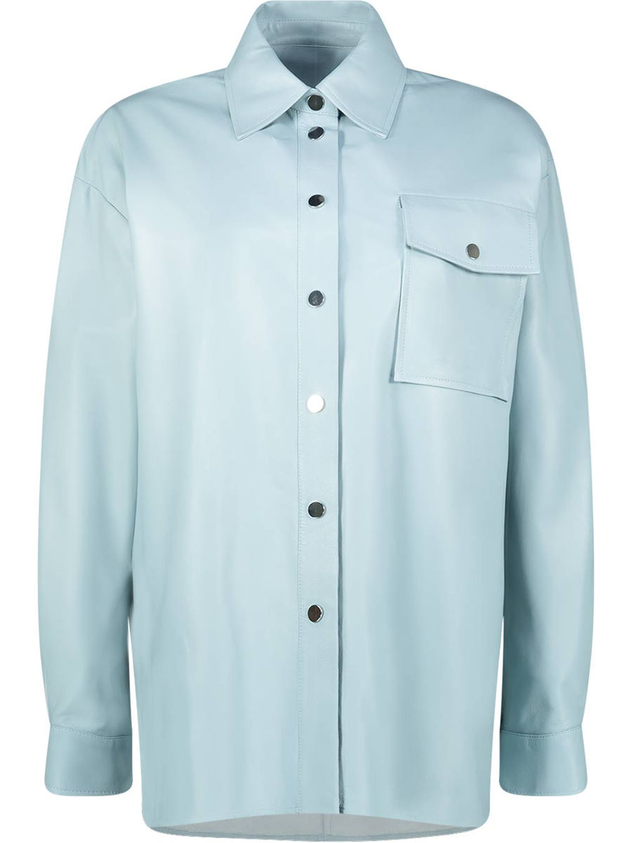 Powder blue oversized jacket