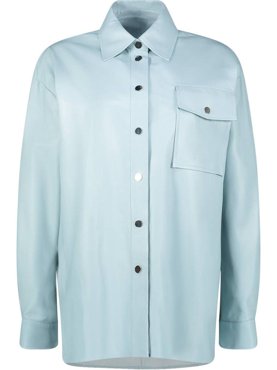 Powder blue oversized jacket