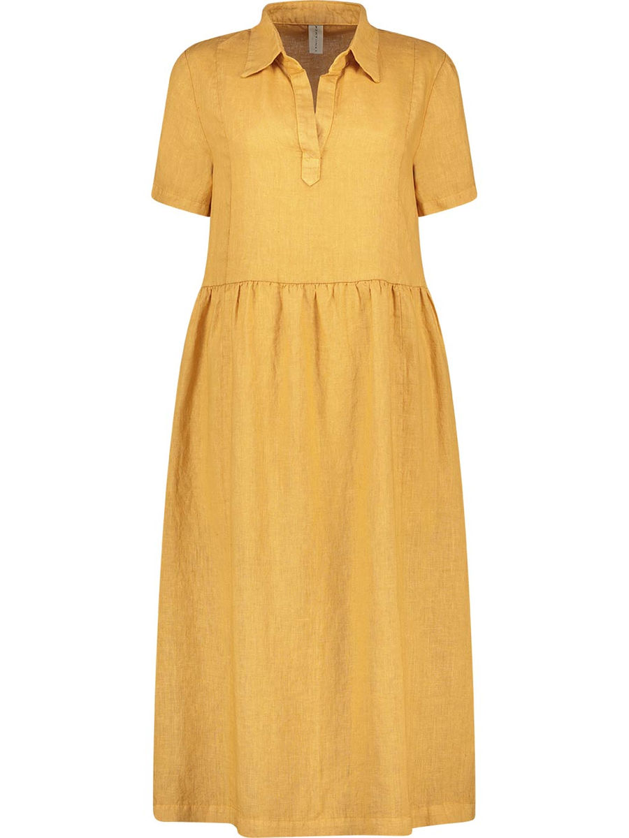 Polo-neck sunshine midi dress