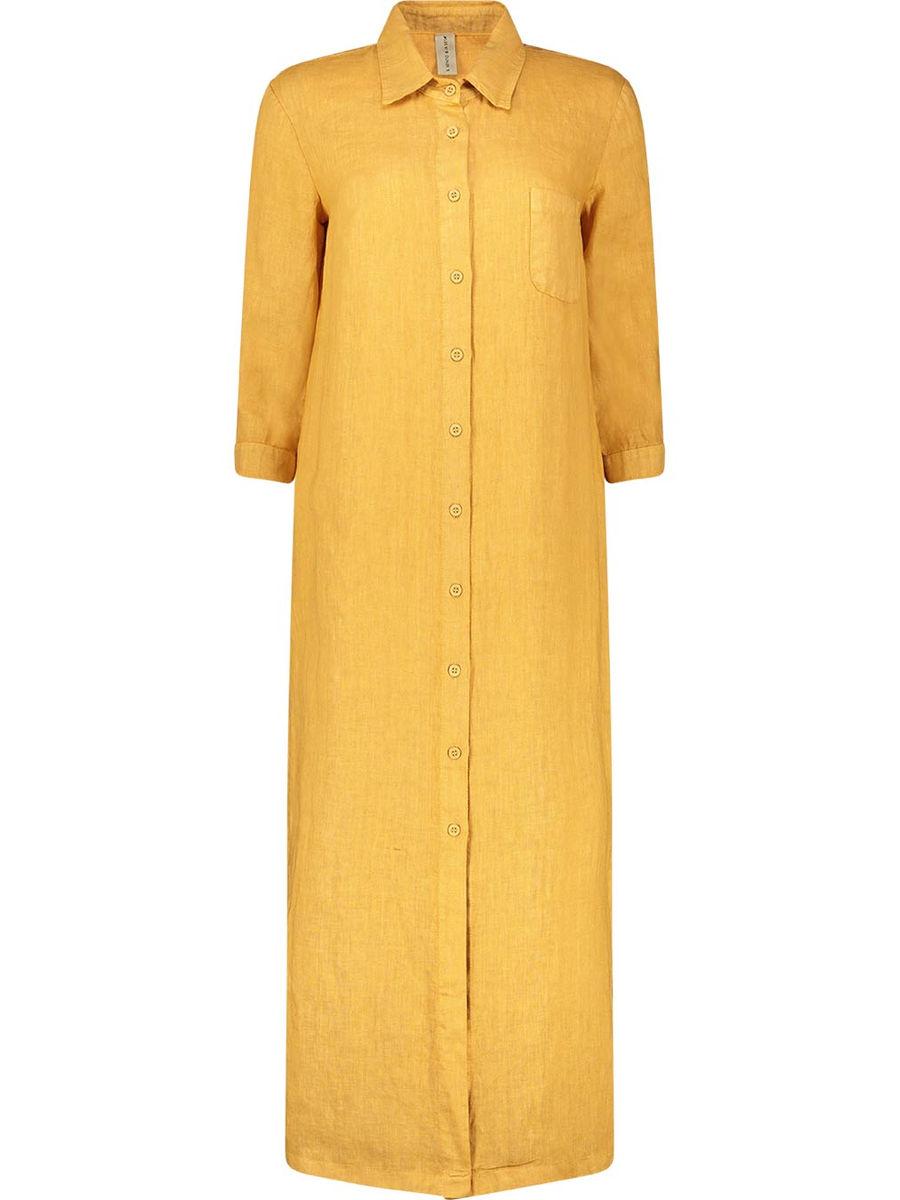 Linen button down shirt dress