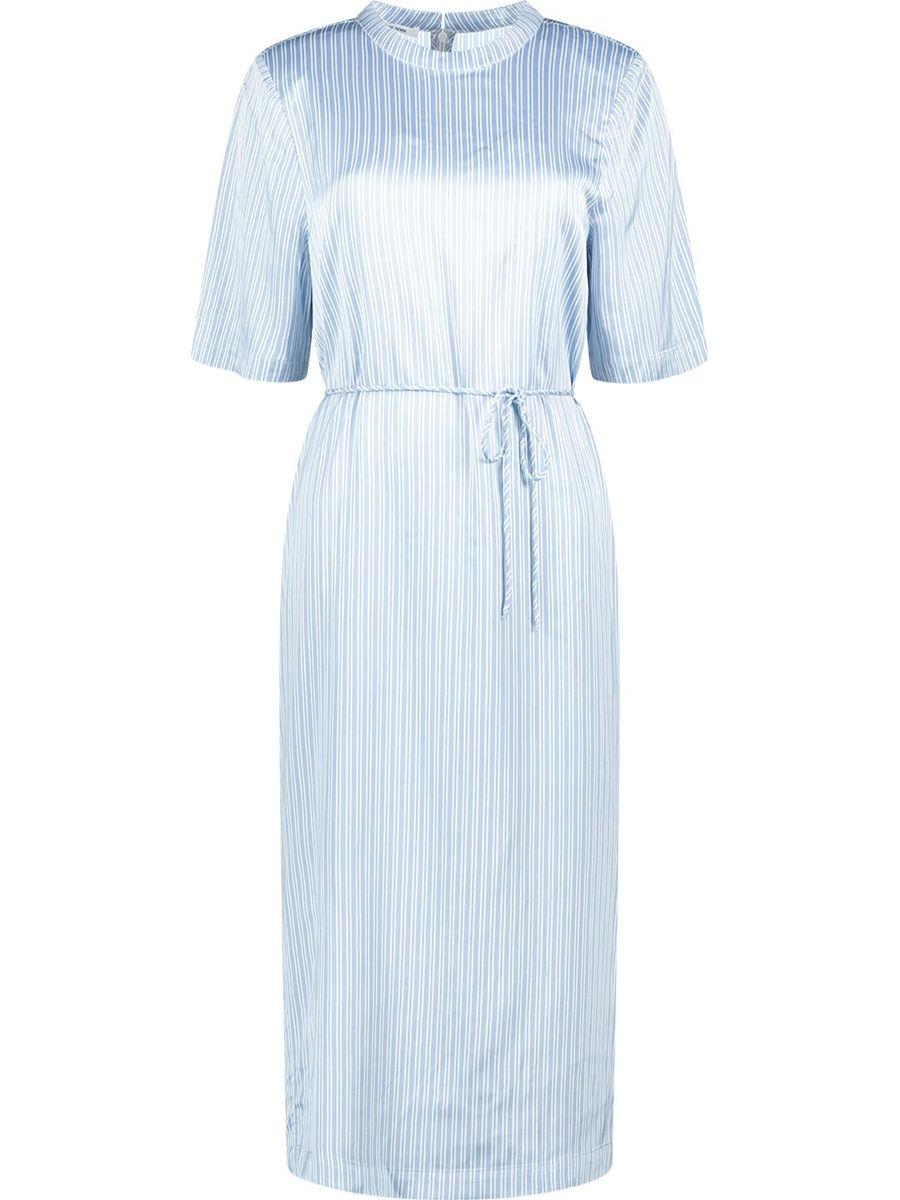 Knielanges Kleid mit  Streifenmuster