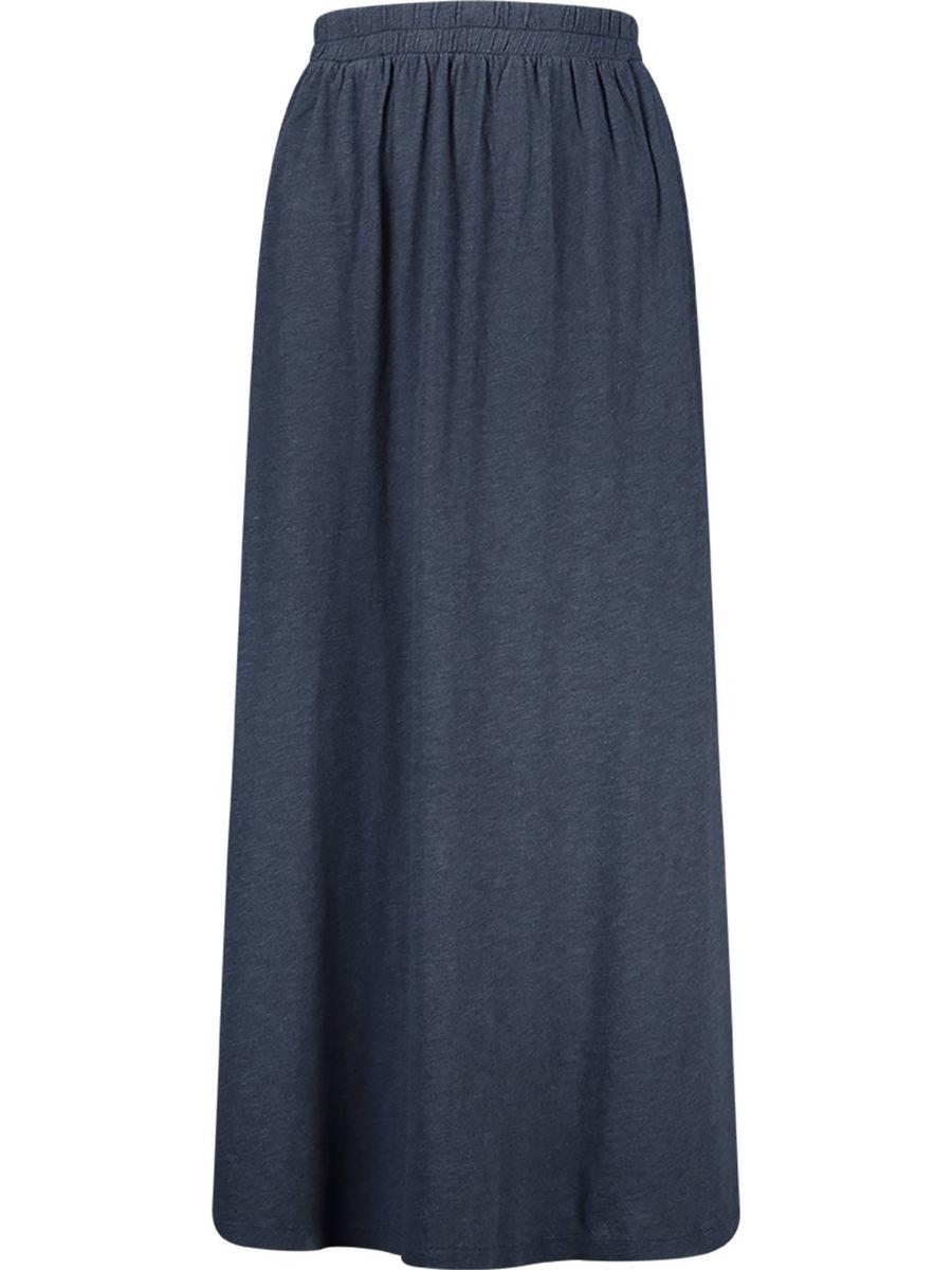Navy elastic waist maxi skirt