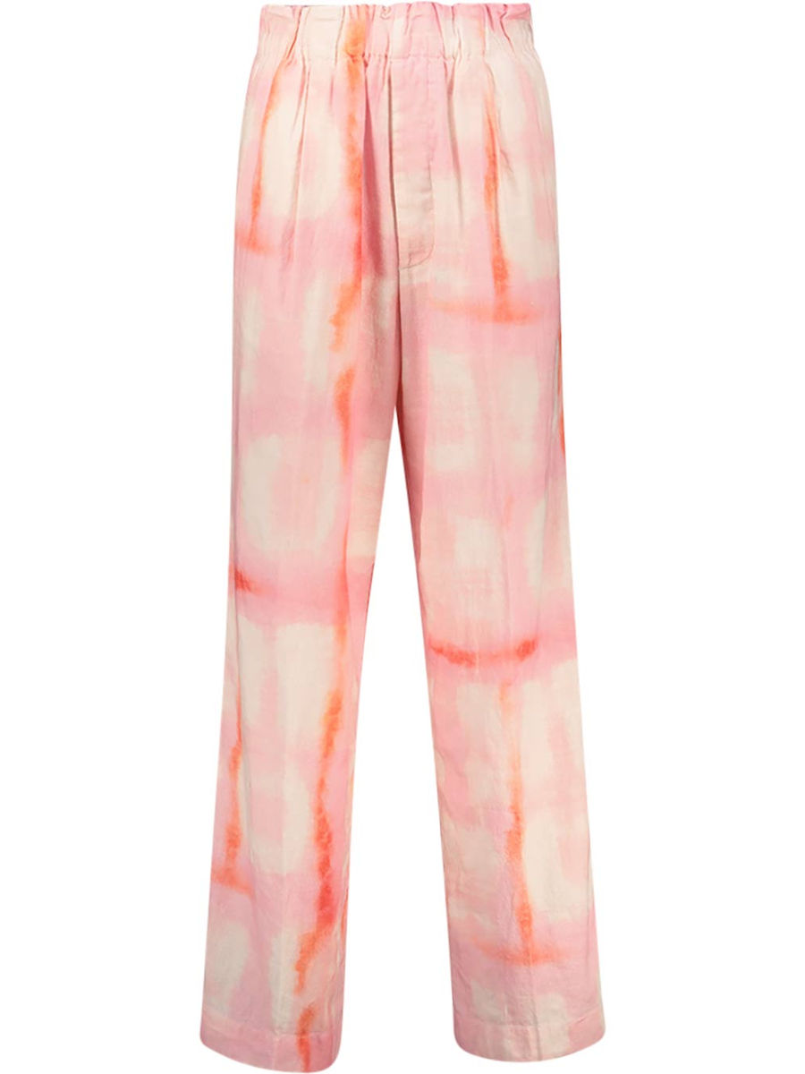 Tie and dye straight fit trousers