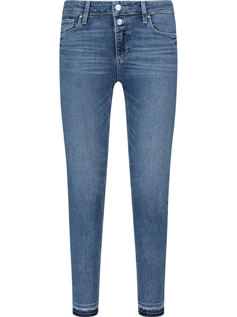 Skinny dual-button jeans