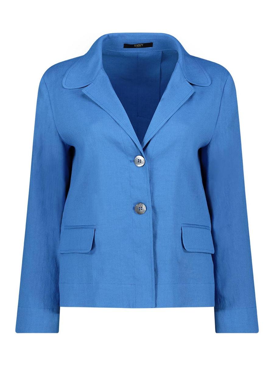Electric blue slim-fit blazer