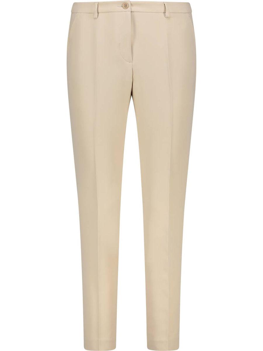 Classic beige straight cut trousers