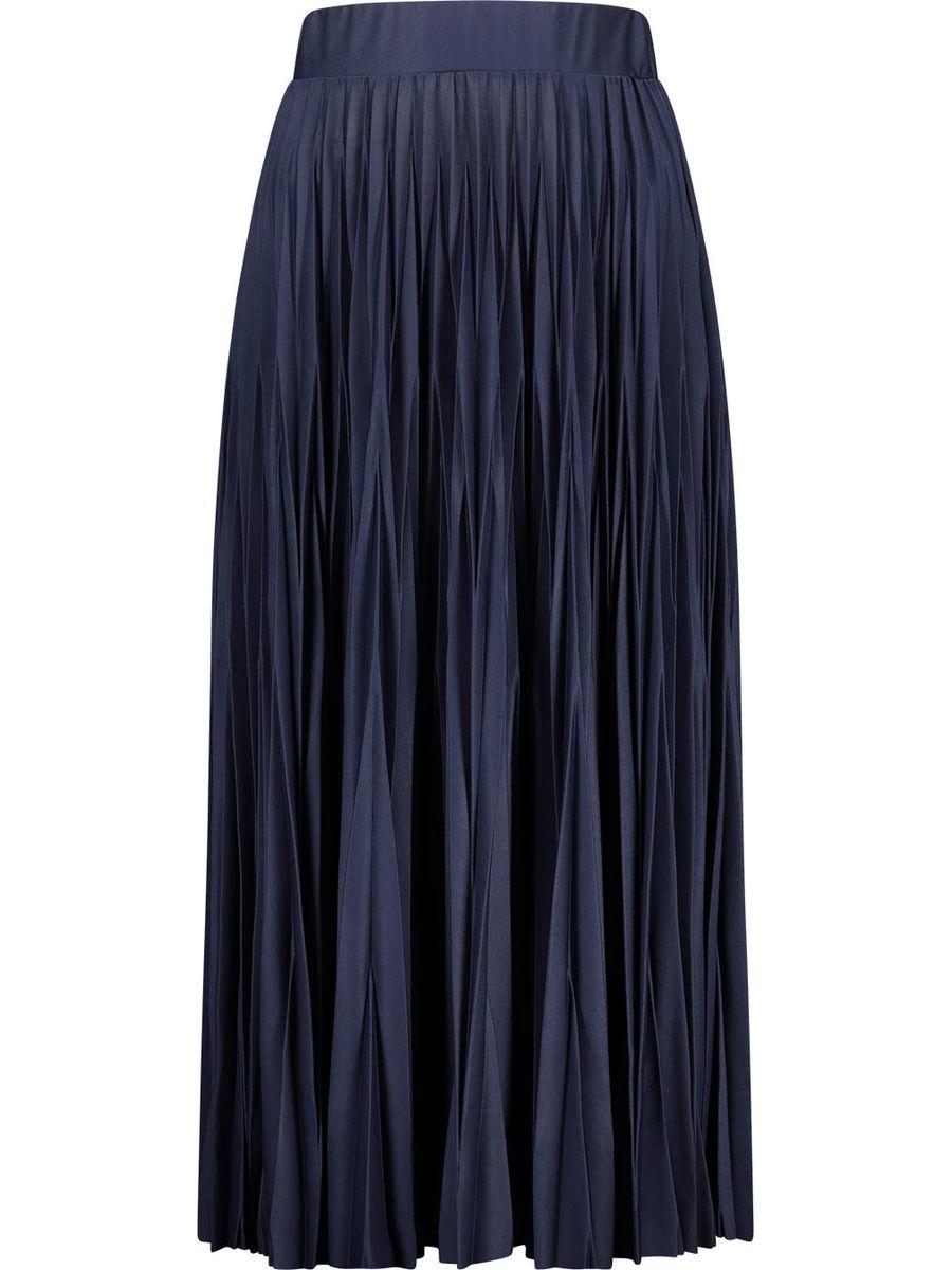 Midnight blue accordion pleat skirt